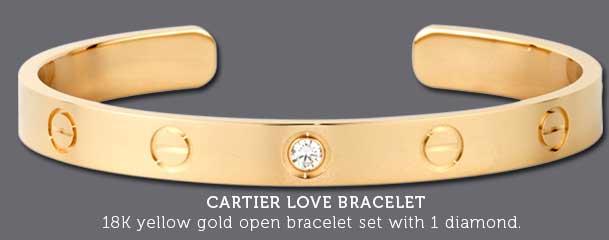 Cartier Love Bracelets For Women Yellow gold diamond