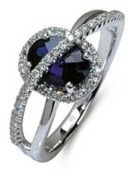 Beautiful blue sapphire ring