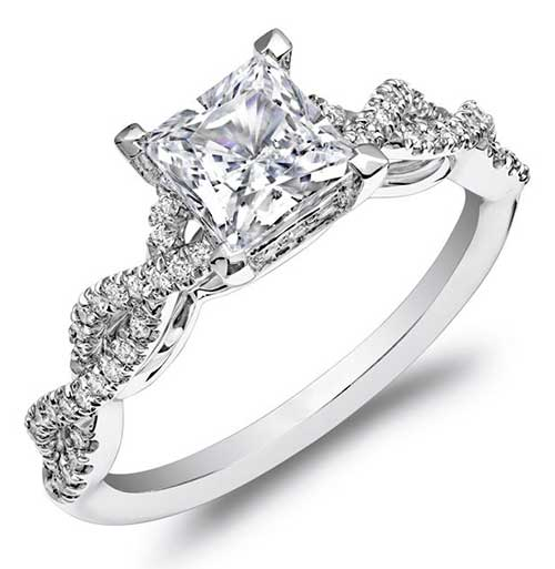 Princess Cut Diamond Rings - Sparkle and Fire