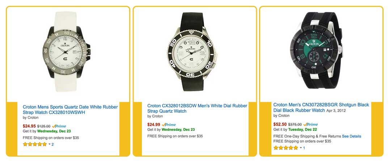 Croton watches prices